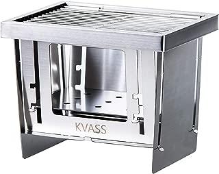 KVASS バーベキューコンロ コンパクト 焚き火台 キャンプ用品 卓上コンロ 折りたたみコンロ ミニバーベキューコンロ BBQグリル 1台3役 ステンレス鋼