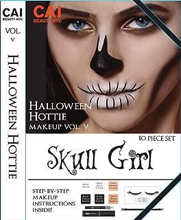 10-Piece Makeup Set Halloween Hottie Costume FX Face Paint Make Up Kit for Adults, Skull Girl
