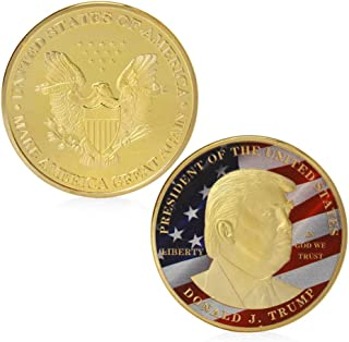 President Donald Trump Silver Commemorative Novelty Coin and Silver Challenge Coins (Gold)