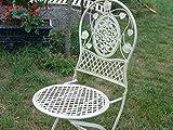 Romántico Color Crudo de metal silla de jardín al aire libre Patio muebles de jardín Retro
