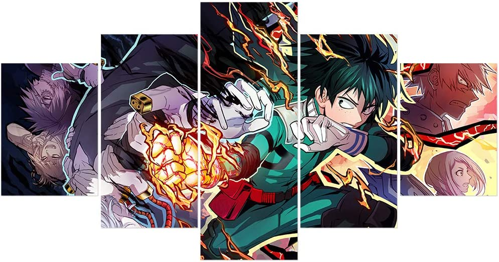 My Hero Academia Deku Anime Poster One·for·All Prints on Canvas Unframed Wall Decor
