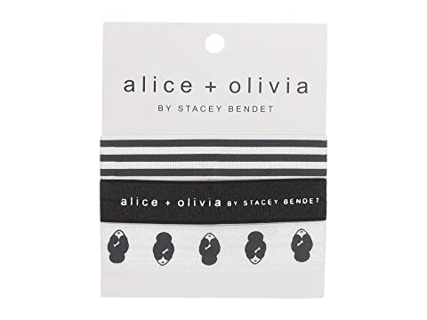 Alice + Olivia Stace Face Elastic Hair Tie Set