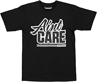 Hoonigan HRD19 Aint Care Short Sleeve T-Shirt. Best Cool Graphic Tee for Mechanics, Gear-Heads, Car Truck Motorcycle Enthusiasts, Drifting, Race-Car Sports Fans Gift for Him