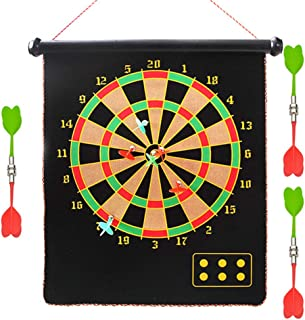 Magnetic Dart Board Indoor Outdoor Games for Kids and Adults with 12pcs Safe Darts Dartboard Set Fun Adults Kids Game