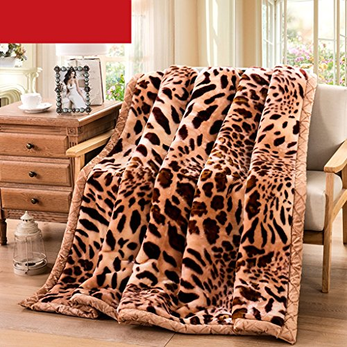 Pläd HMLIFE Brown filt sovrum Bed Covered med filt Four Seasons fritidsfilt mjuk och bekväm dubbel isolering (storlek: 195 x 230 cm)