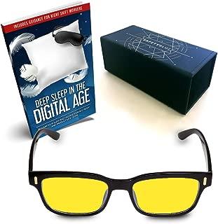 SafetyBlue™ Retro Day Glasses Blue Blocking for Men & Women   Reading Glasses   Gaming Monitors   Computer Glasses   UV Light Protection Glasses   Headache Relief   Non-Prescription Glasses (Yellow)