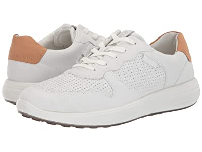 ECCO Soft 7 Runner Perforated (White/Lion) Men