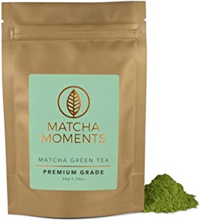 Matcha Green Tea Powder - Japanese Teas For Detox & Boosting Energy - Fair & Sustainable, Single Source Harvest, Farm To Cup Superfood From Japan - Premium Grade 50g / 1.76oz - Makes 50 cups