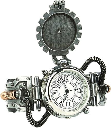 ventas calientes B Baosity Steampunk Steampunk Steampunk Punky Reloj de Pulsera de Dial Numérico Romano Antiguo Movimiento de Cuarzo Prop Traje - blanco 2  los clientes primero
