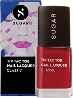 SUGAR Cosmetics Tip Tac Toe Nail Lacquer - 056 Cherry Jane (Pink Red)