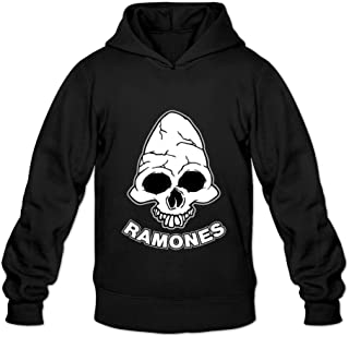 Cherish Men's Ramones Band Logo Poster Hoodie Black