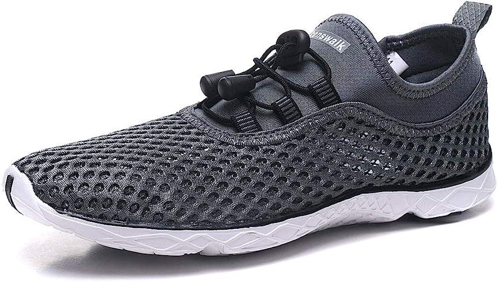 Kenswalk Women's Aqua Water Shoes Lightweight Slip On Walking Shoes