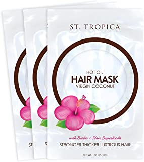 St. Tropica Hot Oil Hair Mask with Biotin + Superfoods, 1.50 oz (Pack of 3)