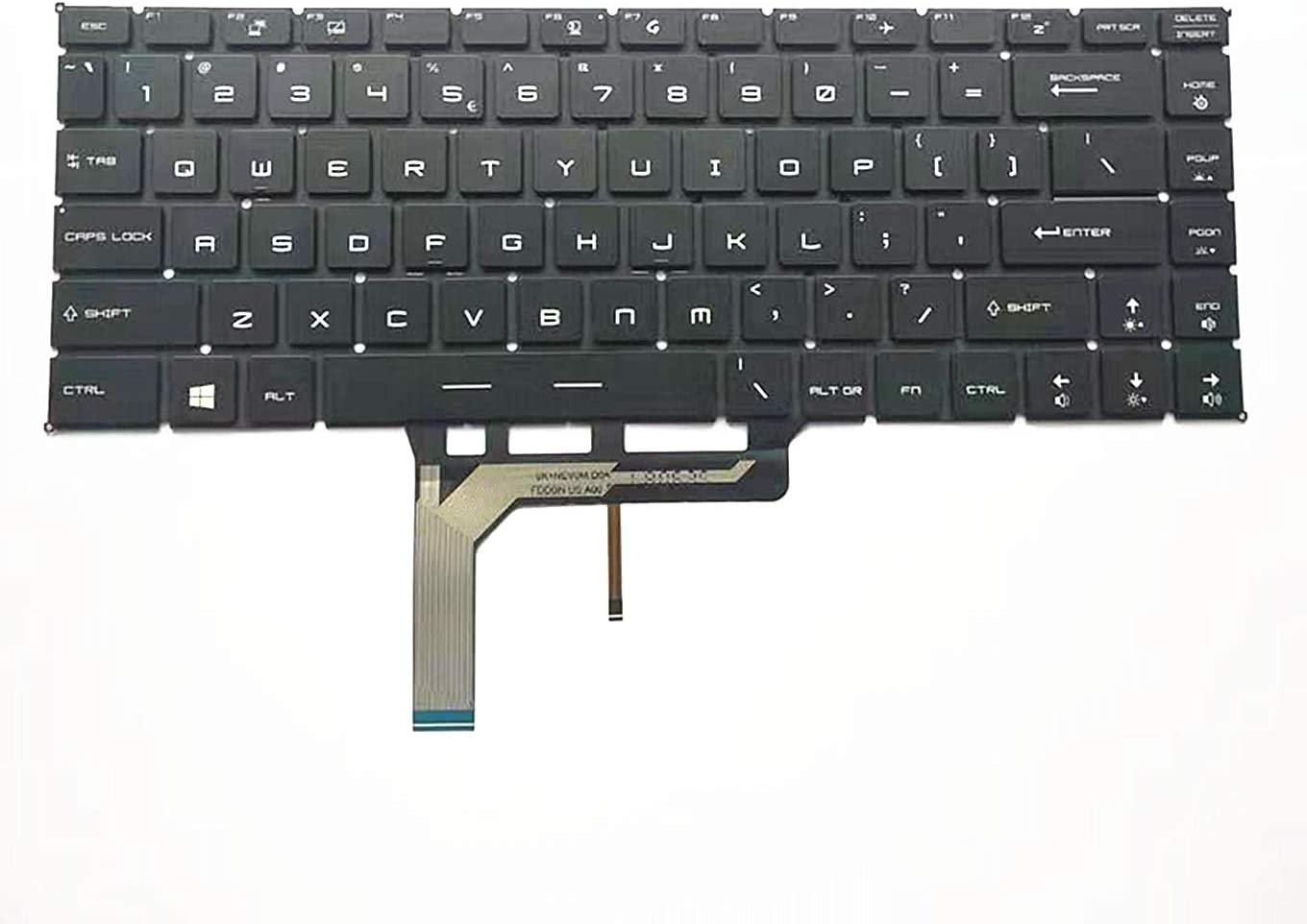 Ranking TOP13 QUETTERLEE Replacement New US Black Backlit Keybo Laptop English Max 60% OFF