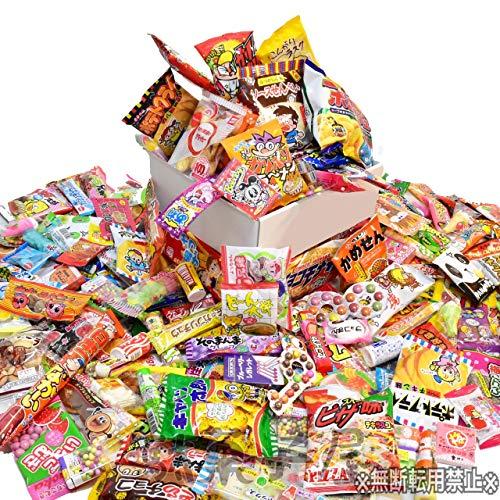 駄菓子のシェアパック【昔懐かしい駄菓子からチョコ、珍味、スナック、季節限定菓子などの大容量セット】 (1.5人前〜2人前)
