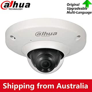 Dahua 5MP Panoramic Poe FishEye IP Security Camera IPC-EB5531 with 1.4mm Fixed Lens, 180°Wide Angle View, Built-in Mic for Audio, Heatmap Detection,Support SD Card Slot