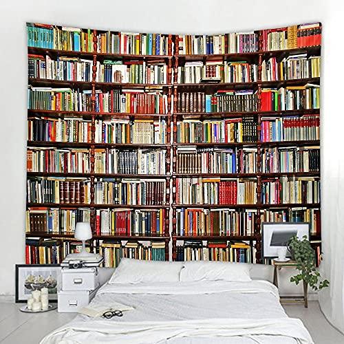 Estantería de biblioteca Lingxia tela colgante impresión ecológica tapiz decorativo suave y conveniente A4 150X200CM