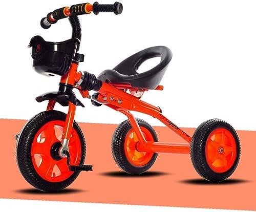 Zhijie Tricycle pour Enfants, vélo Pliable pour Enfants Tricycle   voitureriage Vélo en Acier à Haute teneur en voiturebone 2-5 Ans Tricycle Tricycle pour bébé pour siège réglable Enfants (Taille   rouge)