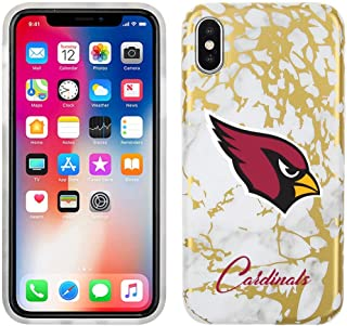 Prime Brands Group Cell Phone Case for Apple iPhone Xs/X - White/Gold - NFL Licensed Arizona Cardinals