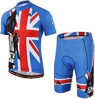 BIYINGEE Men's Cycling Jersey Shorts Sets Short Sleeve with Reflective Stripe