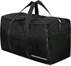 URBANSEASONS 96L Extra Large Duffle Bag Lightweight, Travel Duffle Bag Foldable for Men Women, Black