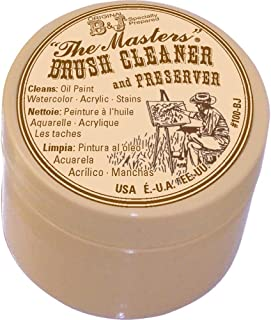 General Pencil The Master's Brush Cleaner & Preserver 1 Oz. with 10 Well Palette W/Lid