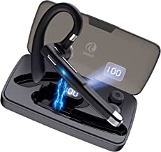 Bluetooth Earpiece,Bluetooth Headset for Cellphones with MIC, One Ear Bluetooth Earpiece with LED...