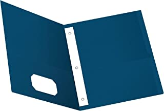 Oxford Two-Pocket Folders w/Fasteners, Blue, Letter Size, 25 per box (57702)