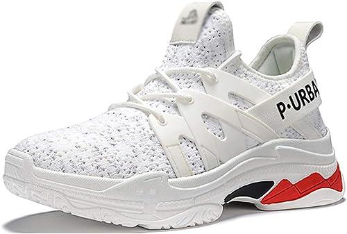 GTYW Bottes de Plein air, Chaussures de randonnée antidérapantes, Chaussures de randonnée à Lacets pour Hommes, Dames, pour Toutes Les Saisons