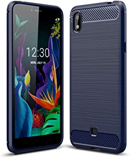 zl one Compatible with/Replacement for Phone Case LG K20 2019 Back Cover Ultra-Thin TPU Bumper (Blue)