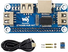 Waveshare Ethernet/USB HUB HAT for Raspberry Pi with 1x RJ45 Ethernet Port and 3X USB Ports Stable Wired Ethernet Connection Compatible with USB2.0/1.1 Fits The Zero/Zero W/Zero WH.