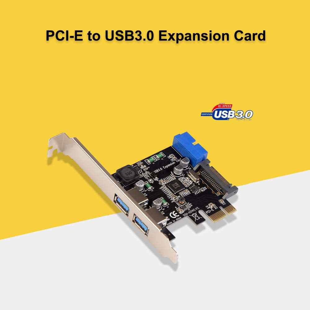 Docooler PCI-E to USB3.0 Expansion Card PCI-E Adapter Card with Bracket
