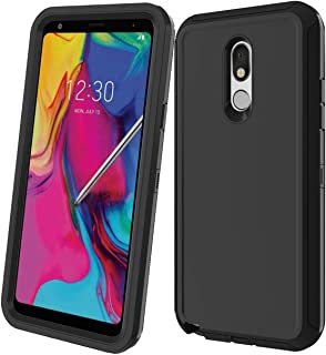 LG Stylo 5 Case, Tri-Layer Heavy Duty [with Built-in Screen Protector] Hybrid High Impact Resistant Rugged Full-Body Shockproof Cover for LG Stylo 5 (Black-ii)
