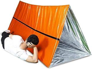 ZITTEE 寝袋 ポリエチレン 防風 保温 緊急用 寝袋 サバイバルバッグ マイラー サバイバル 寝袋 防水 軽量 オレンジ