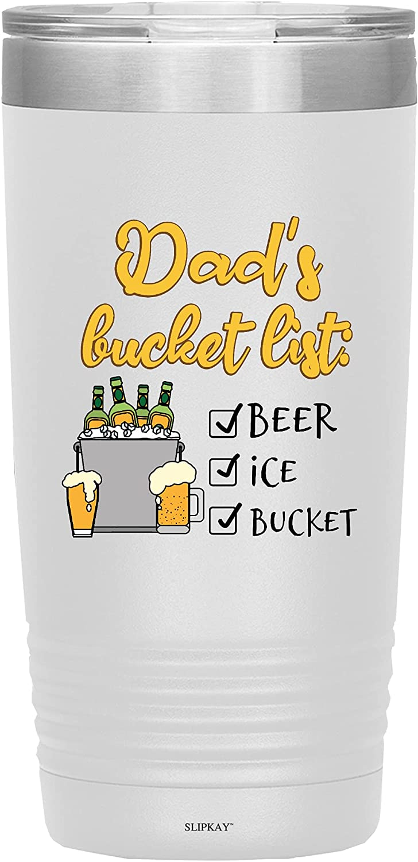 Columbus Mall Dads Bucket List Beer Ice Vacuum depot 20oz Check Tumbler