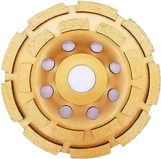 Aplus 4-1/2-Inch Diamond Cup Grinding Wheel, Double Row Diamond Grinder Disc for Concrete, Granite, Stone, Marble etc