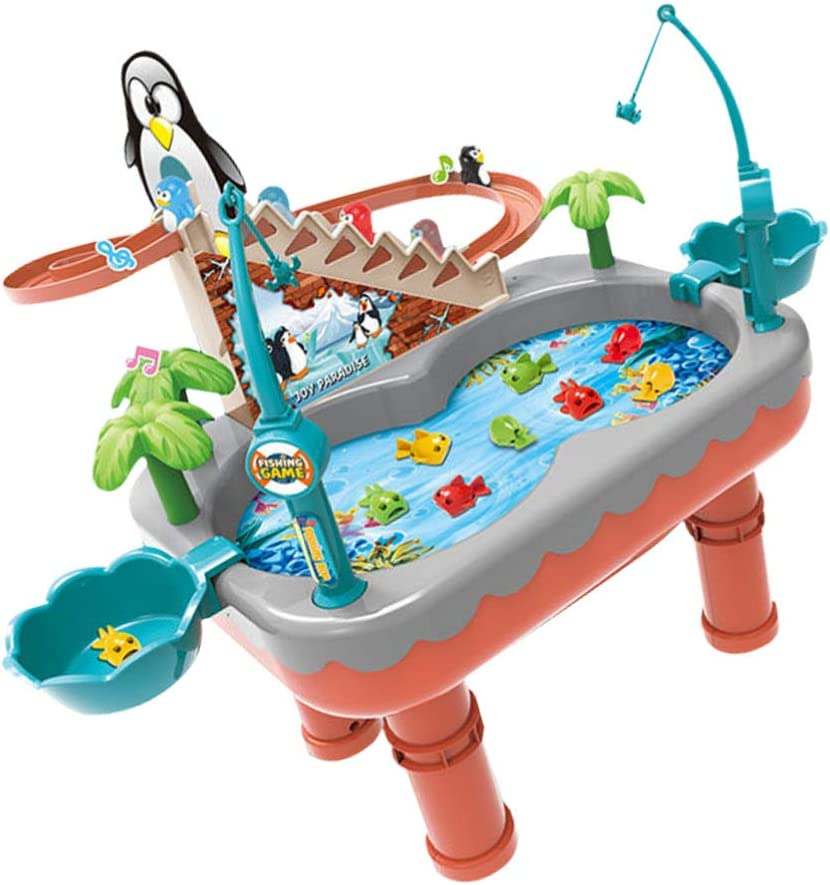 Toyvian Magnetic Fishing Pool Toys Game Long-awaited Kids Max 65% OFF Penguin Stair C for