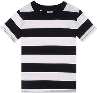 Boys' Cotton Short Sleeve Striped Crew Neck T-Shirt