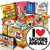 I Love Sachsen - Anhalt + Sachsen - Anhalt Andenken + Geschenk Idee DDR Schokolade