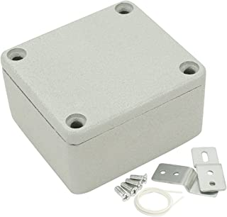 uxcell 2.5 inches x 2.3 inches x 1.4 inches 64mmx58mmx35mm Aluminum Junction Boxes General Electrical Metal Project Enclosure Waterproof IP65, Abrasion Resistant, Good Heat Dissipation for Outdoor