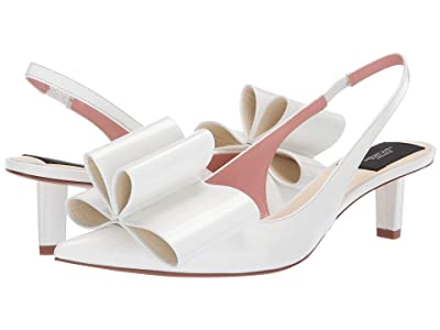 Marc Jacobs 40 mm Slingback Pump w/ Bow (White) Women