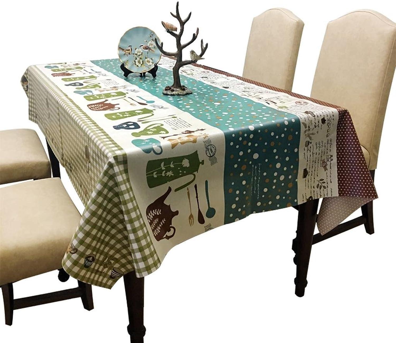 Xiaowu Tischdecke Gartentisch Wasserdichte Anti-l-PVC-Couchtisch Einfache Esstischdecke, 140  220cm