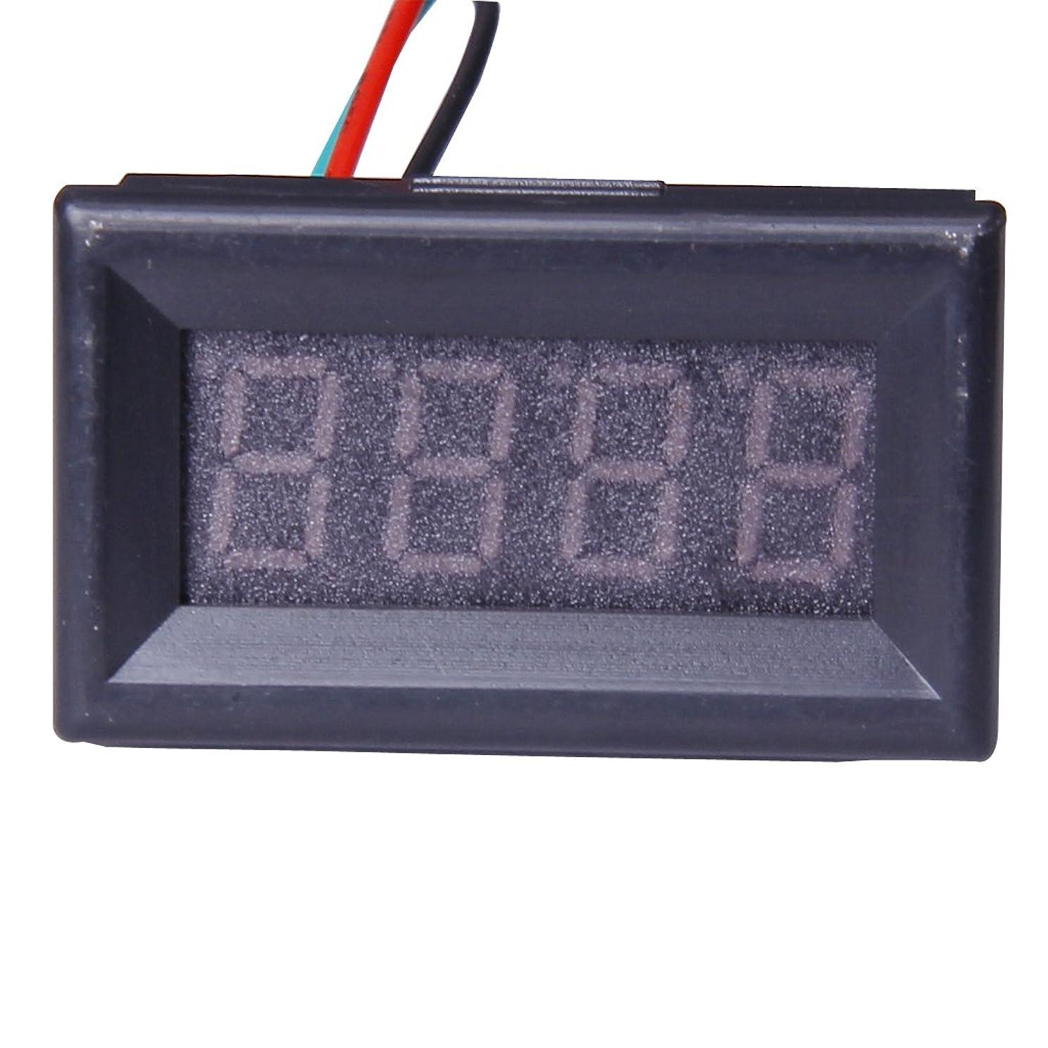 ボイコット励起割合【ノーブランド品】レッド0.36inch 4桁デジタル電圧計、LED、DC 7~30V車オートバイ