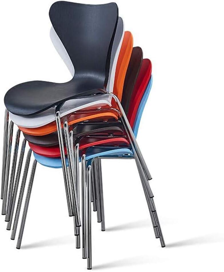 DSHUJC Chaises Chaise Moderne Minimaliste Président De La Conférence Plastique Métal Jambe Président Étudiant (Couleur: Bleu) Black