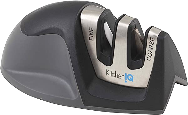 KitchenIQ 50009 Edge Grip 2 Stage Knife Sharpener Black