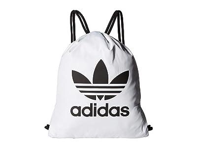 adidas Originals Originals Trefoil Sackpack (White/Black) Bags