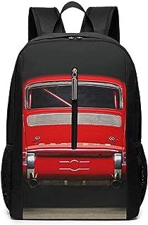 Large Laptop Backpack, Waterproof Business Carry On Backpack for Men Women, College School Durable Computer Bookbag,Water Bottle Pockets Daypack - Red Vintage Porsche Car