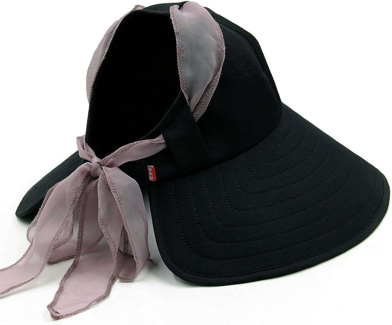 MSZYZ The summer sun hat Female Beach Hat along with a large folding sunshade cap UV outdoor sun hat hat