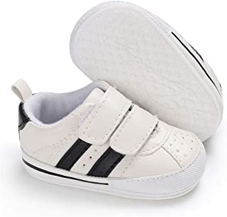 E-FAK Baby Boys Girls Shoes Non-Slip Rubber Sole Infant Toddler Sneakers Crib First Walker Shoes(0-18 Months)