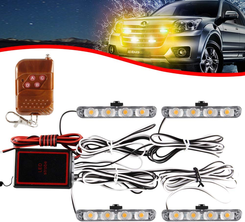 KaiDengZhe 4x4 LED 4 Max Max 66% OFF 75% OFF in 1 Mount Surface Wirele Grill Light DC12V